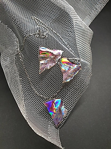Sady šperkov - Recyklované CéDečko - set náhrdelník a napichovačky - 11103803_