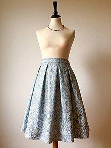 Sukne - sukňa Modrý kvet - 11104655_