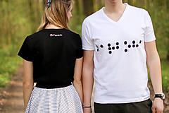 Tričká - Tričko s brailovým písmom - pánske - 11103749_