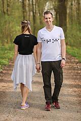Tričká - Tričko s brailovým písmom - pánske - 11103750_
