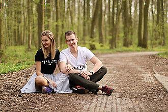 Tričká - Párové tričká s nápisom v brailovom písme - 11103717_