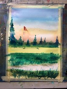 Obrazy - Na golfe - 11102494_