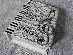 Krabičky - Originální krabička kniha pro hudebníky - 11104350_