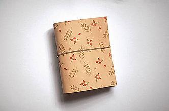 Papiernictvo - Kožený zápisník - šípky - 11102779_