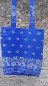 Nákupné tašky - Bavlnena taška s folklorným vzorom - 11103849_
