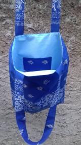 Nákupné tašky - Bavlnena taška s folklorným vzorom - 11103851_