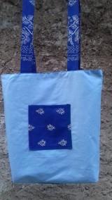 Nákupné tašky - Bavlnena taška s folklorným vzorom - 11103965_