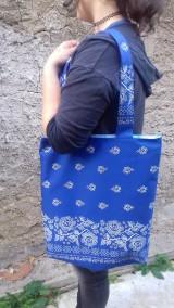 Nákupné tašky - Bavlnena taška s folklorným vzorom - 11104630_