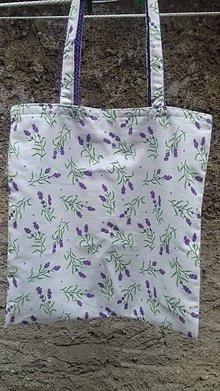 Nákupné tašky - Bavlnená taška levanduľková - 11102917_