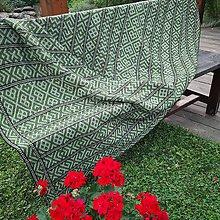 Úžitkový textil - Deka Strážov Čičmany (Zelená) - 11101669_