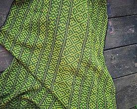 Úžitkový textil - Deka Strážov Čičmany (Zelená) - 11101672_
