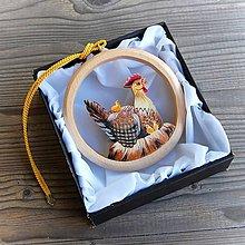 Dekorácie - Sliepka s Kuriatkami - Závesná dekorácia - 11101536_