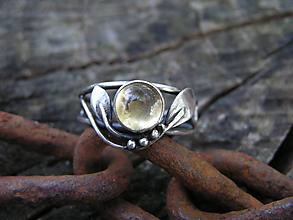 Prstene - Strieborny prsteň Ag 925 Citrín - 11101711_