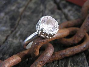 Prstene - Strieborny prsteň Ag925 Morganit - 11101776_