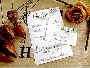 Papiernictvo - Svadobné oznámenie 40 - 11102095_