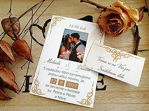 Papiernictvo - Svadobné oznámenie s vašou fotkou 41 - 11102111_