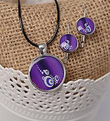 Iné šperky - fialová sada - 11102658_