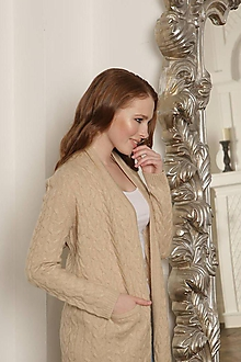 Svetre/Pulóvre - elegantný béžový sveter - 100% kašmír - 11103367_