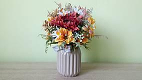 Dekorácie - Kyticka vo vaze - 11102623_