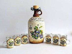 Drobnosti - Demižón + poháriky - 11104470_