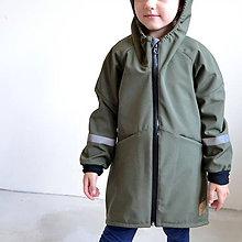 Detské oblečenie - Softshellový kabát kaki - 11103015_