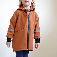 Detské oblečenie - Softshellový kabát tehlový - 11103084_