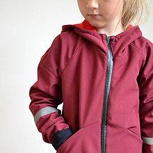Detské oblečenie - Softshellový kabát bordó - 11103149_