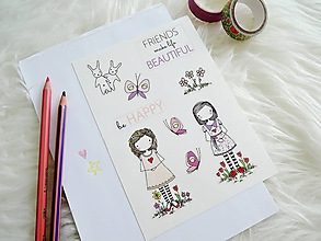 Papiernictvo - Len ja a môj svet - Samolepky FRIENDS - 11103519_