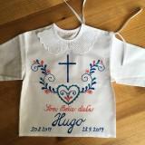Detské oblečenie - Krstná maľovaná ľudovoladená - 11104765_