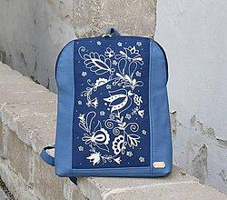 Batohy - Paulína modrá modrotlač AM 1 - 11101845_