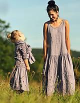 Šaty - Maxi lněné Lila - 11102972_