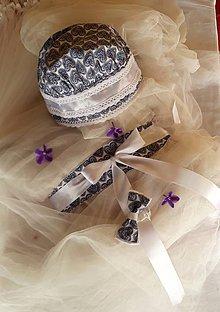 Iné doplnky - Svadobná súprava na čepčenie - 11102451_