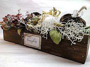 Dekorácie - Jesenné tekvičky v krabičke - 11104644_