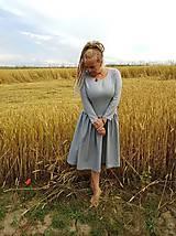 Šaty - Ľanové šaty - 11103180_