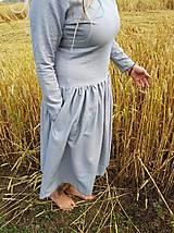 Šaty - Ľanové šaty - 11103181_