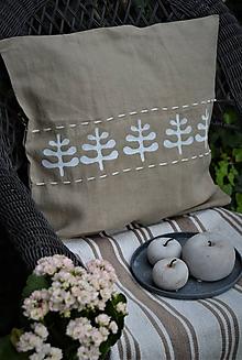 Úžitkový textil - Ľanový poťah s oramentom - 11102851_