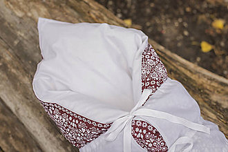 Textil - Slivková lekvárová PERINKA z peria - 11106804_