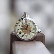 Doplnky - Mechanické vreckové hodinky s kroužkovanou reťazou (55) - 11108802_