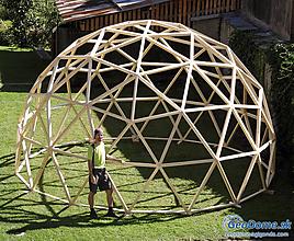 Nezaradené - Konštrukcia drevenej KUPOLY - GEODOMU, plocha 25m2, priemer 5,8m - 11109909_