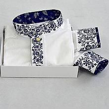 Oblečenie - Modré kvety - 11108447_