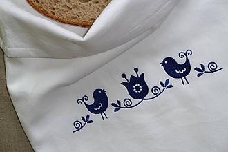 Úžitkový textil - Bavlnené vrecko Vtáčik SlovAB - 11108522_