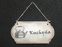 """Dekorácie - Tabuľka """" Kuchyňa """" Čajník - 11107188_"""