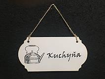 """Dekorácie - Tabuľka """" Kuchyňa """" Čajník - 11107190_"""