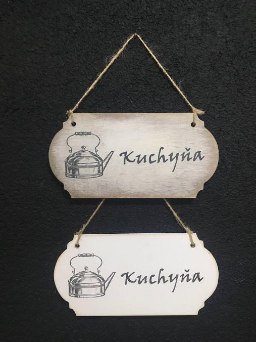"""Tabuľka """" Kuchyňa """" Čajník"""