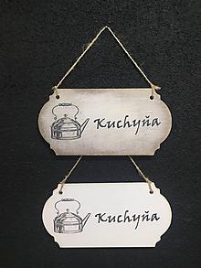"""Dekorácie - Tabuľka """" Kuchyňa """" Čajník - 11107107_"""