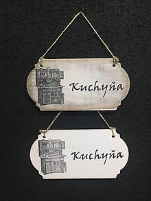 """Dekorácie - Tabuľka """" Kuchyňa """" Kredenc - 11107255_"""