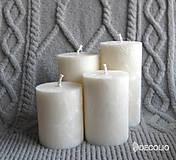 Svietidlá a sviečky - Pearl - adventné sviečky - 11106512_