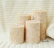 Svietidlá a sviečky - Almond - adventné sviečky - 11106938_