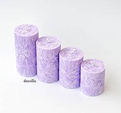 Svietidlá a sviečky - Lavender - adventné sviečky - 11106875_