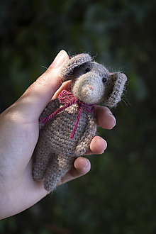 Hračky - Poľná myš Emily - 11106412_